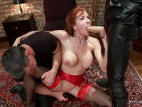 After getting stretched and teased Veronica Avluv is stimulated in rough sex with vibrating toys.