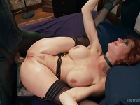 Veronica Avluv plays a submissive servant until she shows her wild side during  kinky, rough sex.